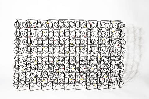 From the GARABATOS series, Homage to Pollock is boldly modern oil on rusted metal sculptureby Spanish artist Lorenzo Belenguer.
