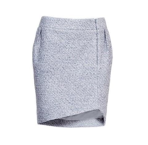 Grey Bouclé Skirt