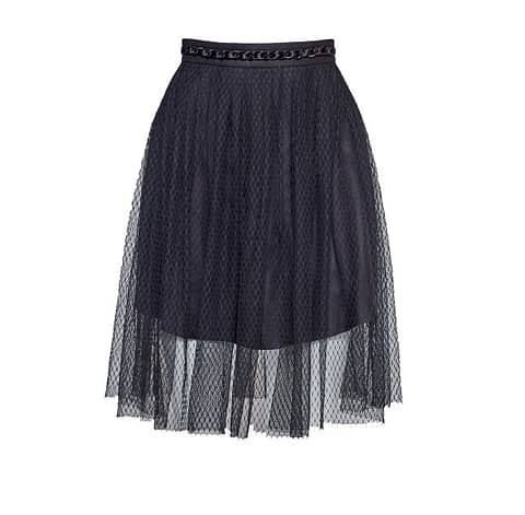 Black Tulle Skirt By Elmira Medins