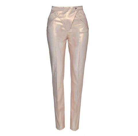 Elmira Medins | Rose-Gold Nacre Pants