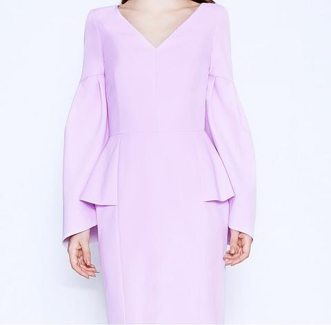 Lavender Peplum Dress by Elmira Medins