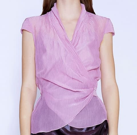 Elmira Medins | Pink Two-Piece Top