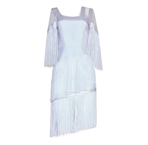 Art Nouveau Fringe Dress by Elmira Medins