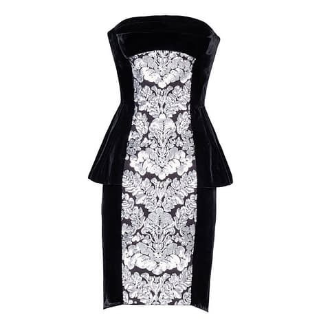 Black Corset Velvet Dress by Elmira Medins