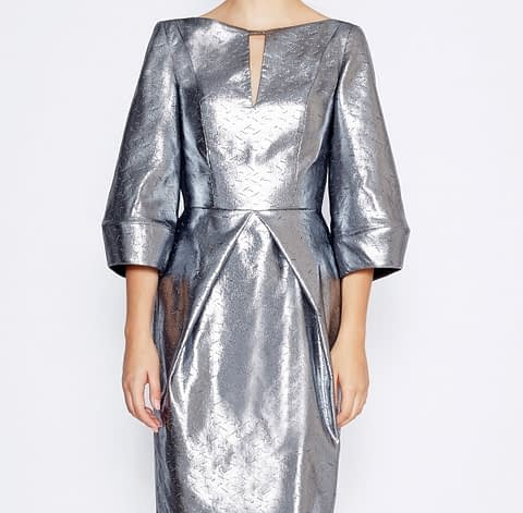 Metallic Silver Dress by Elmira Medins