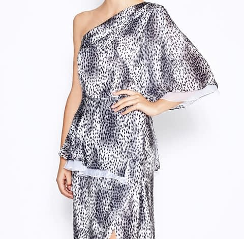 One-Shoulder Leopard Dress by Elmira Medins