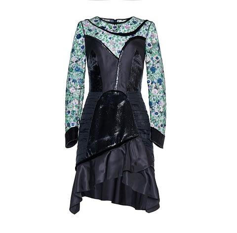 Art Nouveau Mini Black Dress by Elmira Medins
