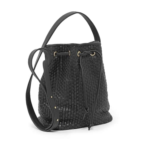Kmana | Lady Hester Small Bucket Bag - Black