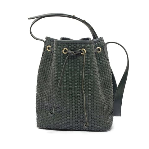 Kmana | Lady Hester Small Bucket Bag - Green