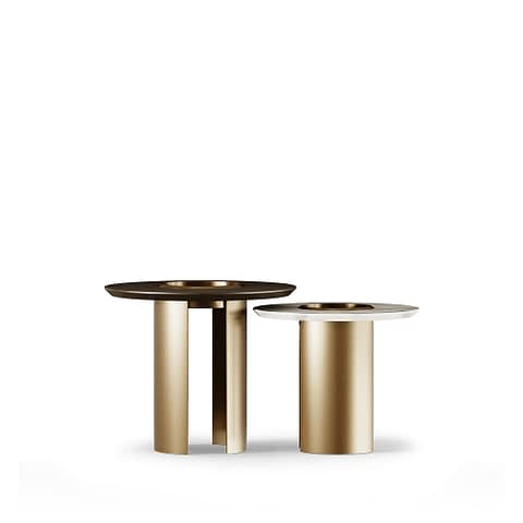 Janus Side Table By Gold Castle