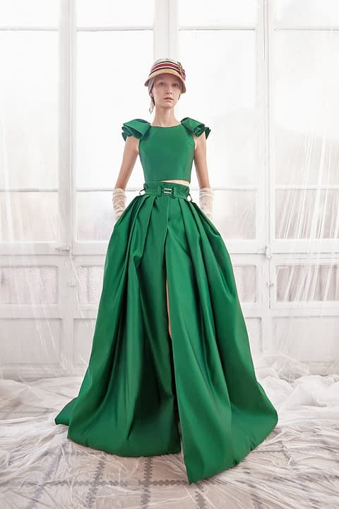 Emerald Two-Piece Dress