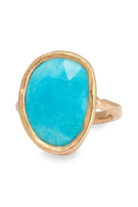 Oval Turquoise Ring by Ambersouk