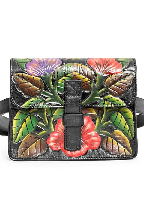 Lady Burton Hand-Painted Belt Bag by Kmana