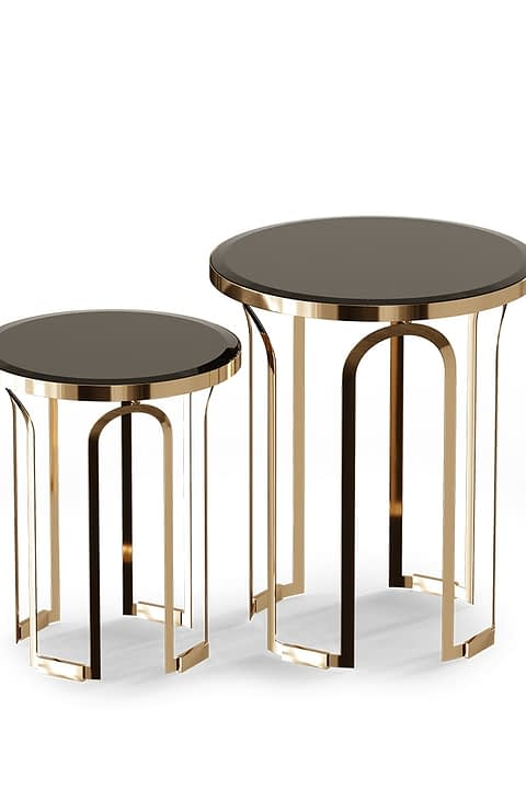 Tower Side Table By Gold Castle