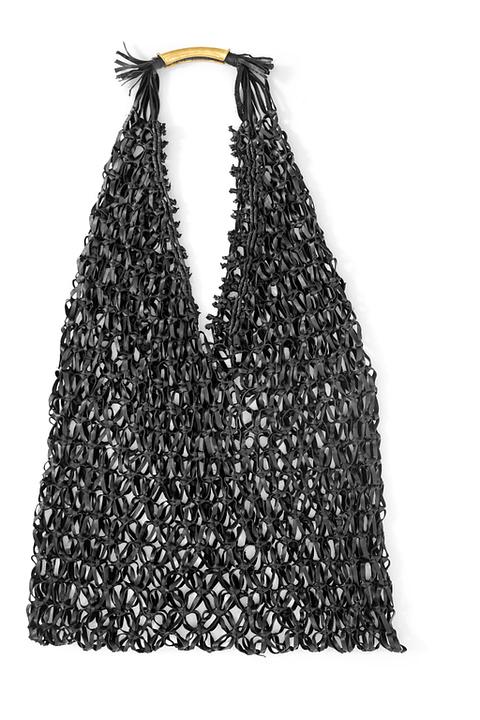 Amelia Net Bag in Black By Kmana