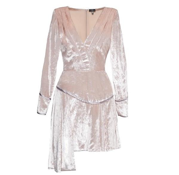 Pink Velvet Dress by Elmira Medins