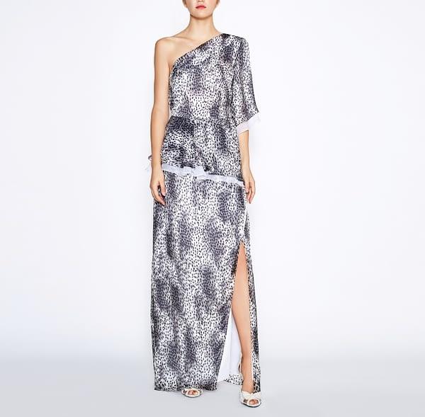 One-Shoulder Leopard Dress by Elmira Medins