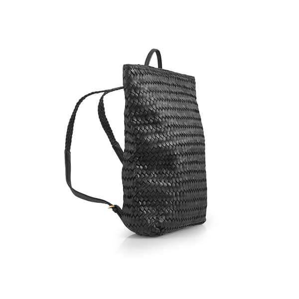 Eleanor Hand-Woven Backpack in Black By Kmana