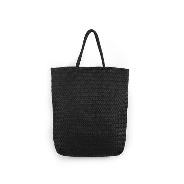 Eleanor Hand-woven Oversize Tote in Black By Kmana