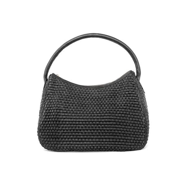 Lady Hester Half Moon Bag in Black By Kmana